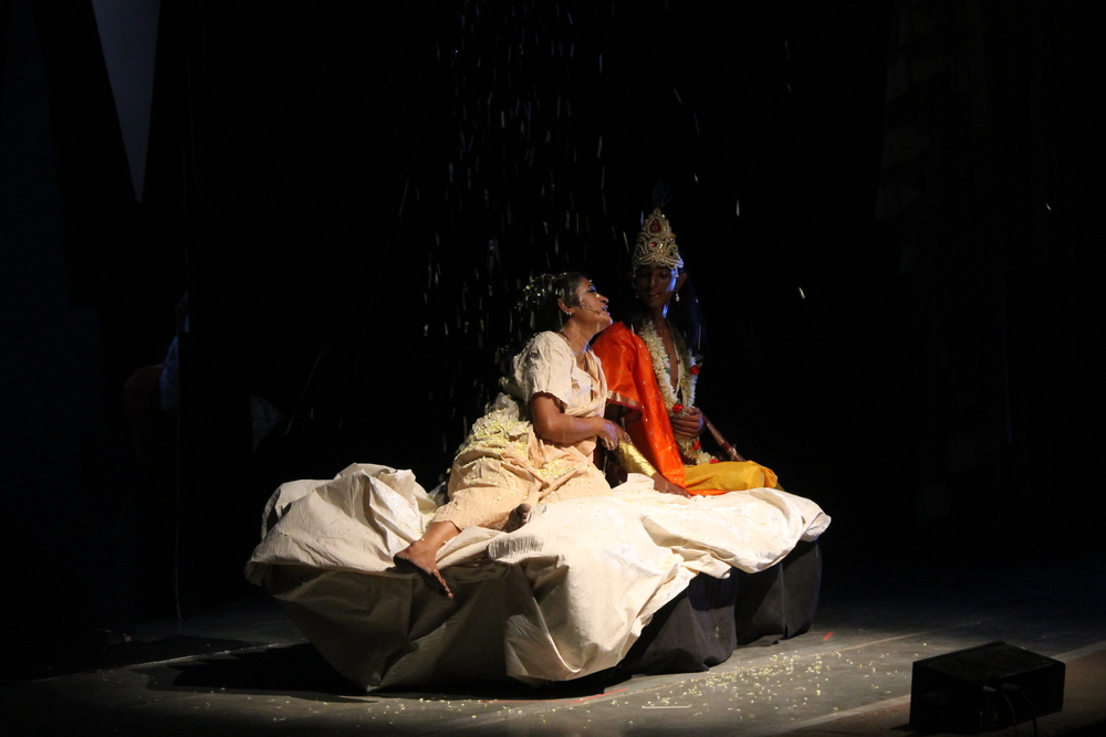 Panchali falls on to the ice ledge, and finds Krishna beside her, reflecting on her entire life.JPG