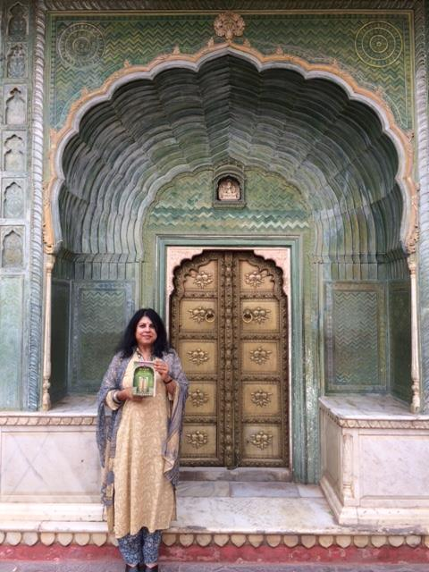 CITY PALACE, JAIPUR, HOLDING PALACE OF ILLUSIONS, WHICH HAS THESE DOORS ON ITS COVER