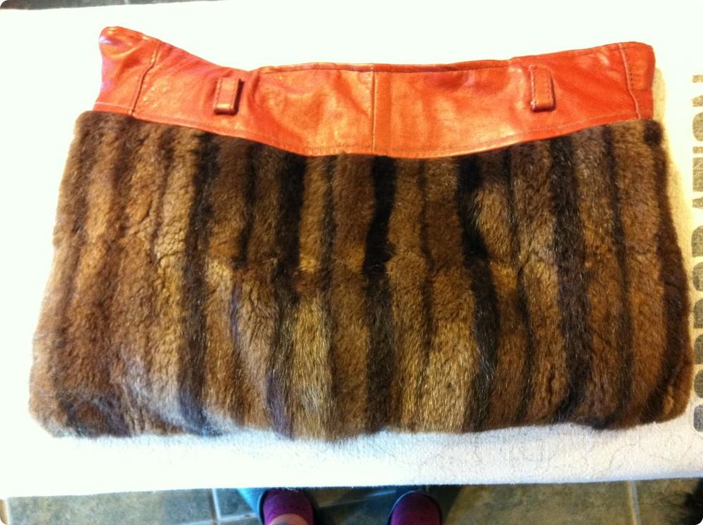 fur leather clutch.JPG