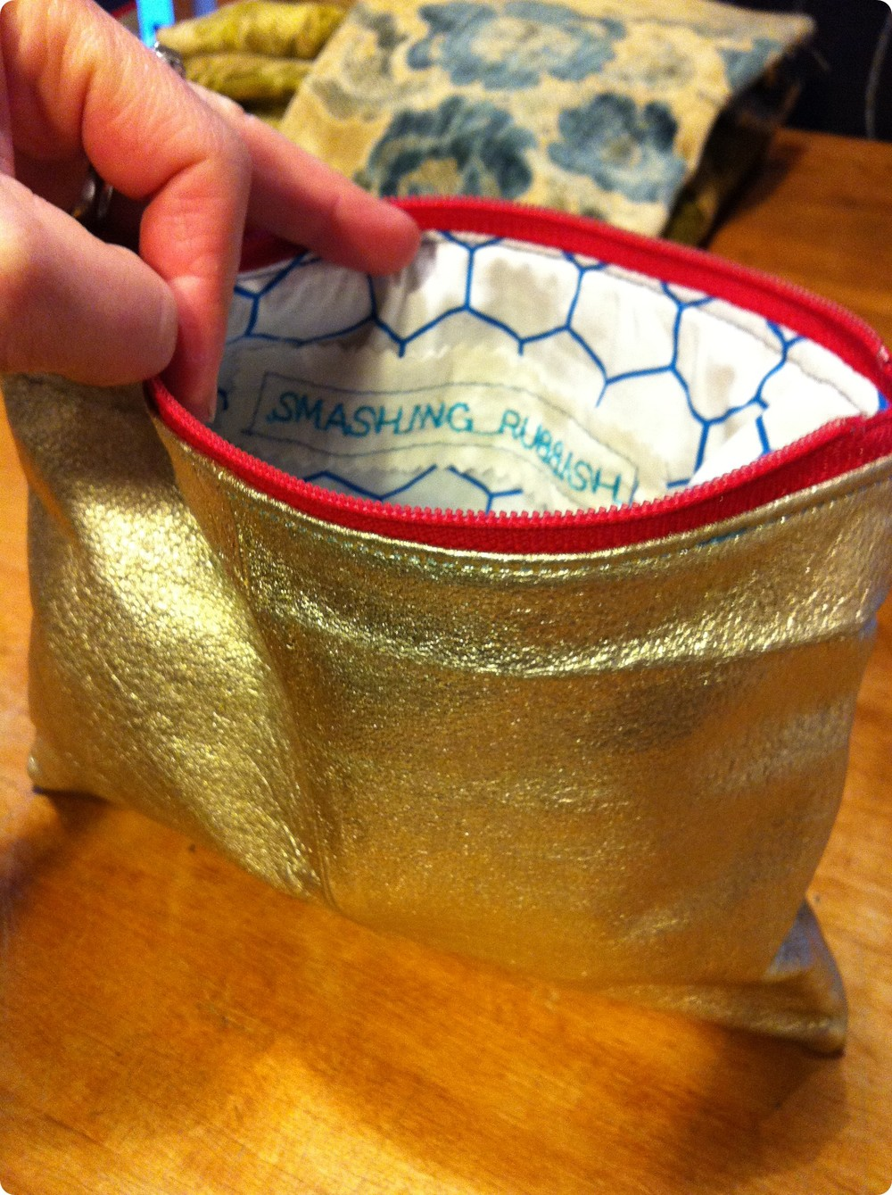 gold metallic leather pouch 2.JPG