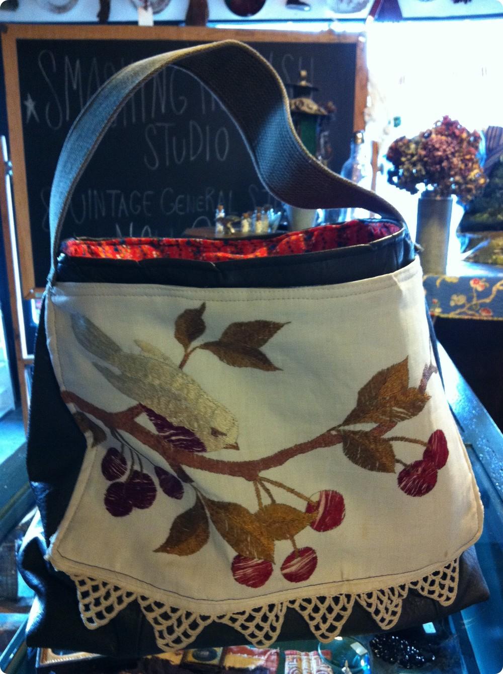 Leather and Bird Bag.JPG