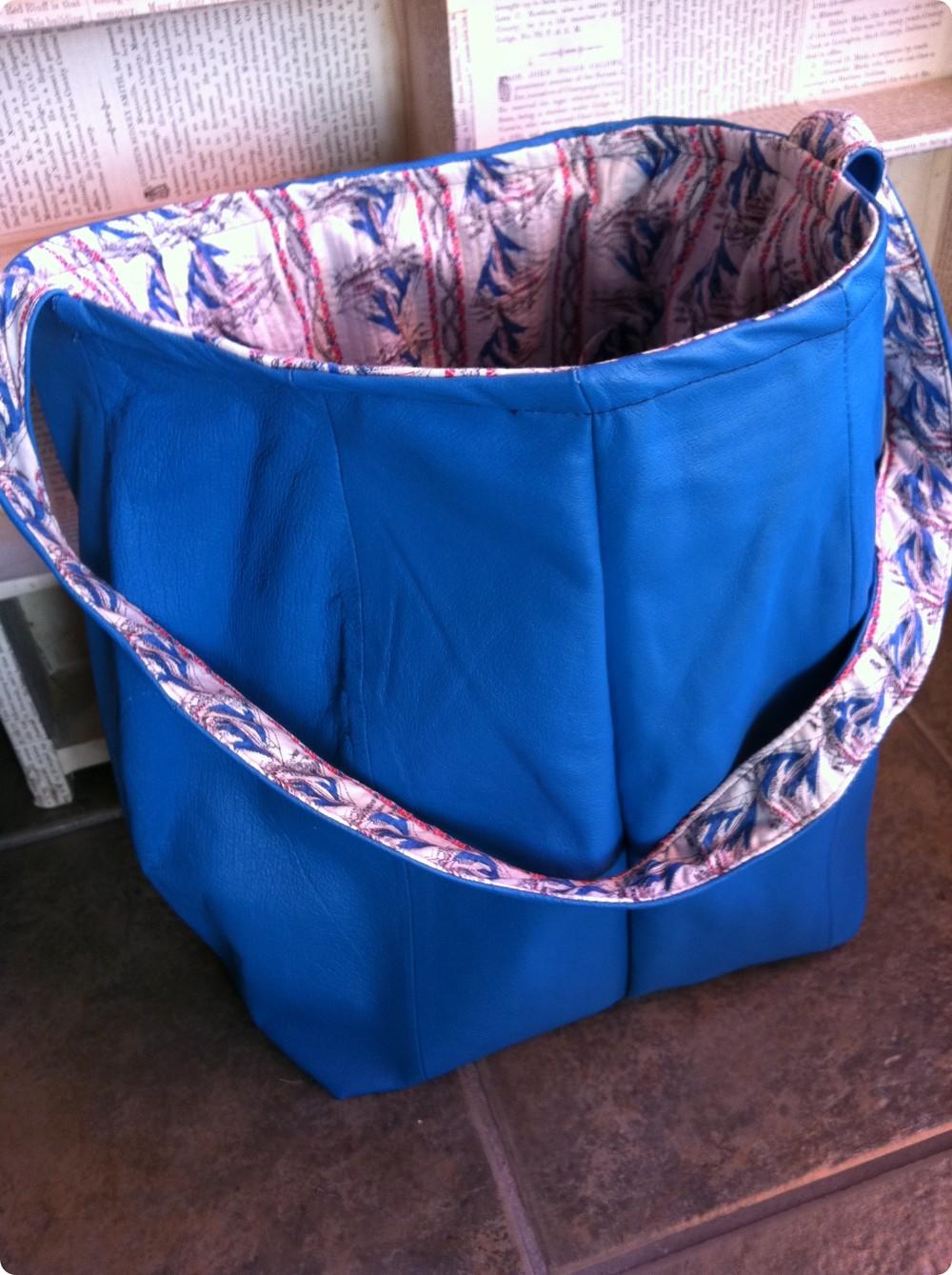 Leather Skirt Bag Blue PDX.JPG