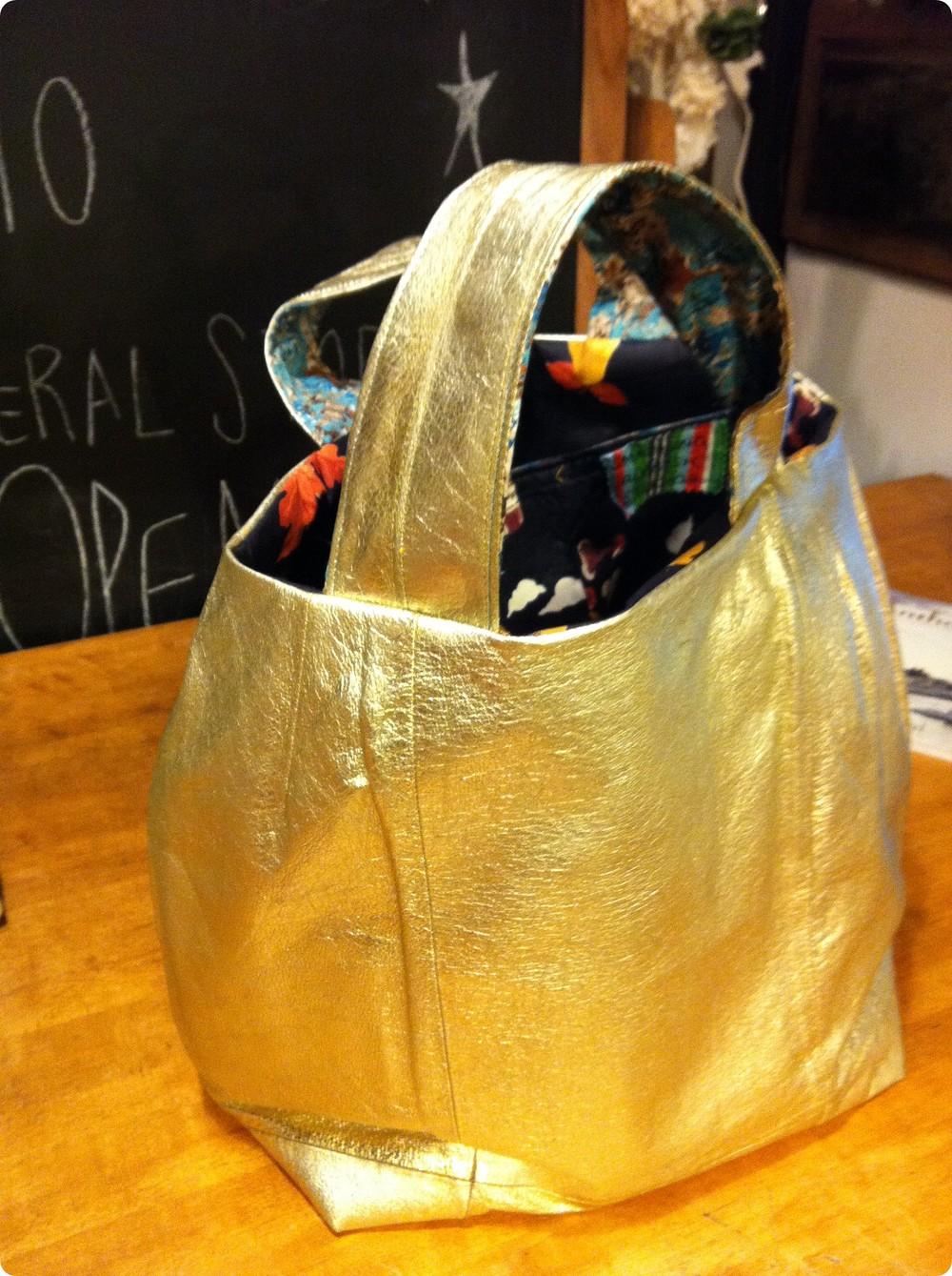 Leather Skirt Bag Gold Metallic Nashville.JPG