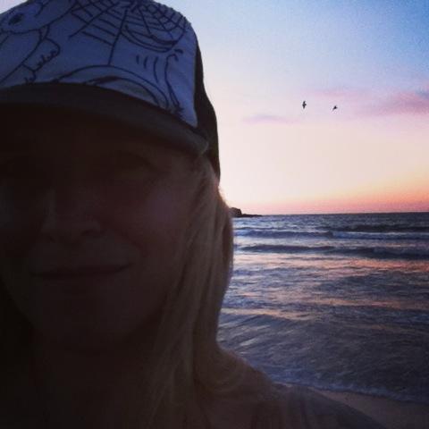 solstice sunset selfie