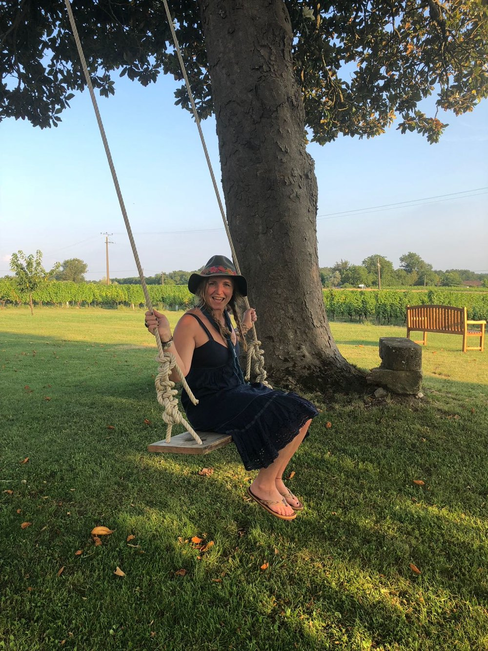 best tree swing at the local winery…