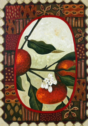 mandarin and spice 'from my garden' series  15cm x 10.5cm editions of 50    $60