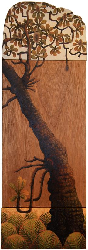 tidal zone I. banksia  oil on timber panels 54 x 18cm