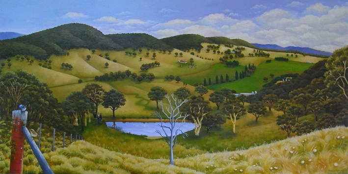 2012  Commissioned by  John Randall QC  oil and acrylic on canvas 60 x 120cm