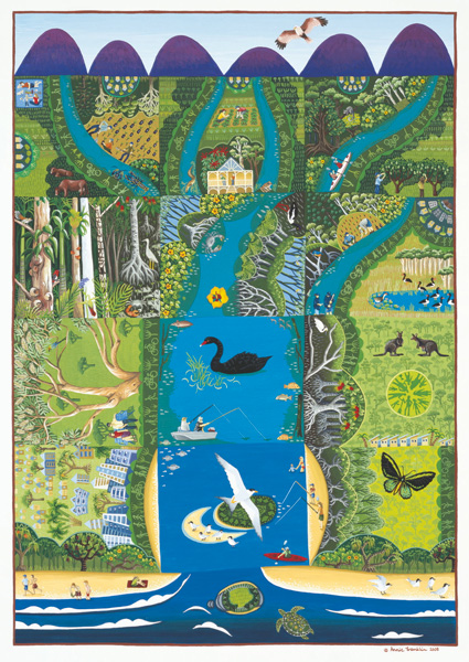 2008   Sunshine Coast Shire Council  - Maroochy River Recovery Project gouache on paper 70 x 50cm