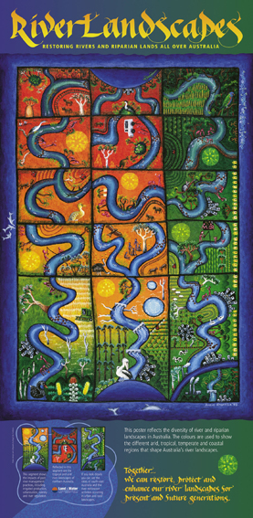 1998   Land and Water Australia  - River Landscapes poster acrylic on canvas 85 x 60cm