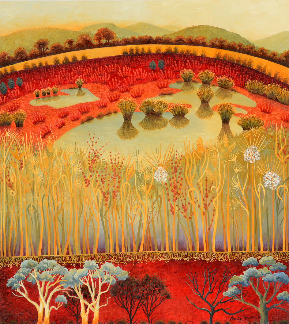 winters and samphire, Pamboola     oil on board   72.5 x 65.5cm