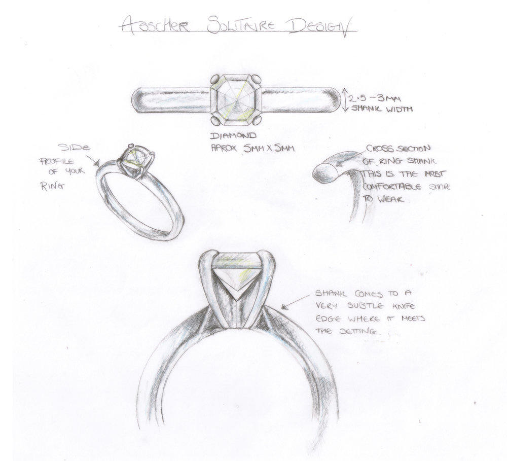 Patrick was involved in the design process to create the perfect ring for Lorna