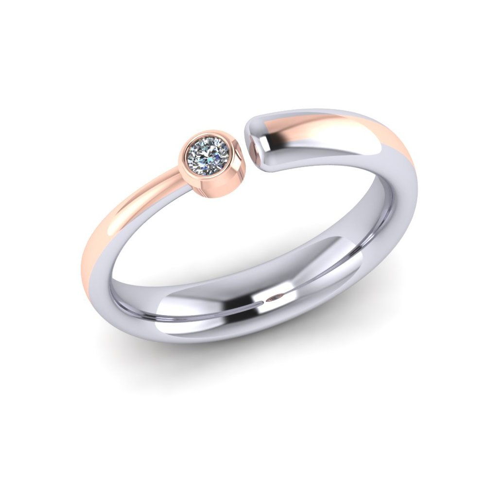 Robert and Rosena's rings were made so that they could accomodate changes in finger size, without compromising on design