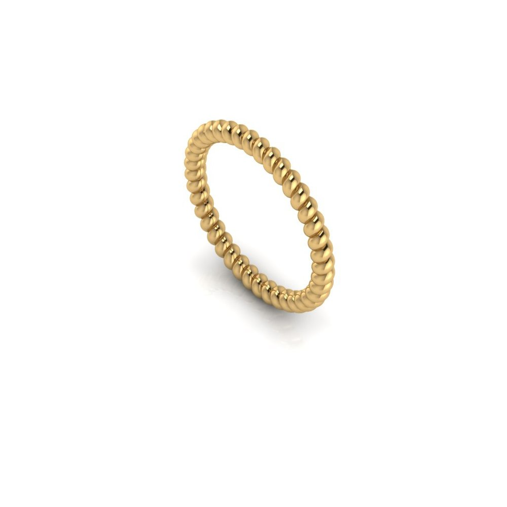 Twisted gold wedding band