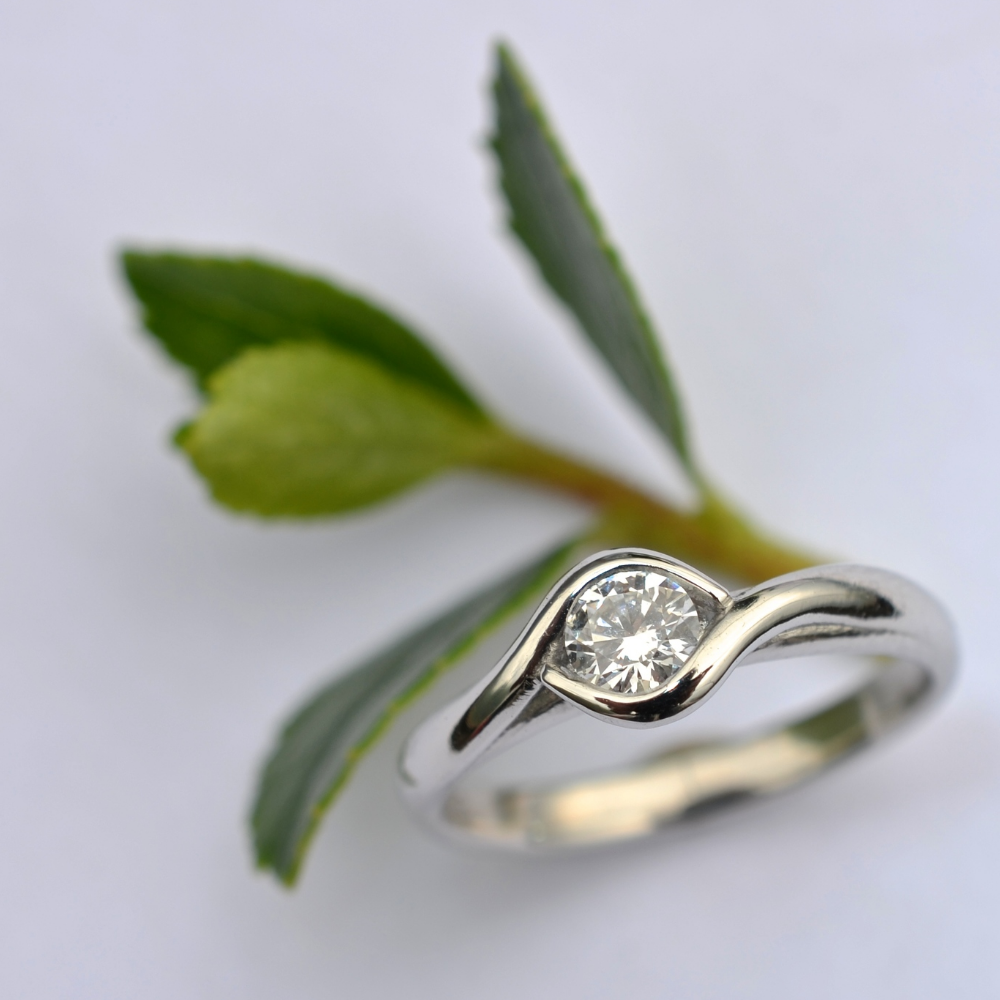 engagement ring with ethical materials