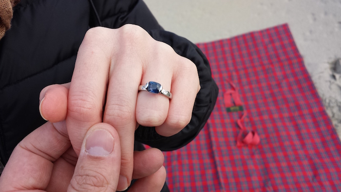 The ring now in its correct place!