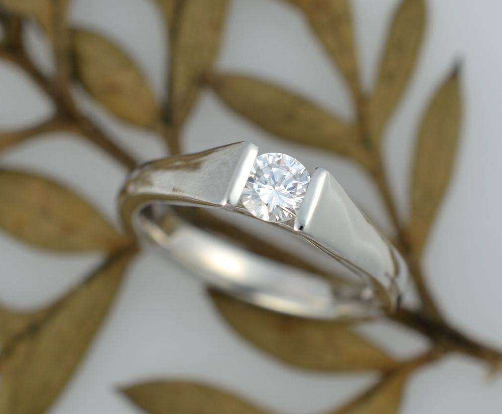 Platinum & diamond solitaire engagement ring