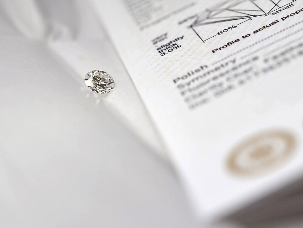 Recycled brilliant cut diamond for Heathers' engagement ring