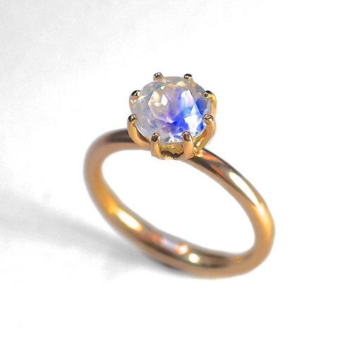lotus moonstone engagement ring - Moonstone Wedding Rings