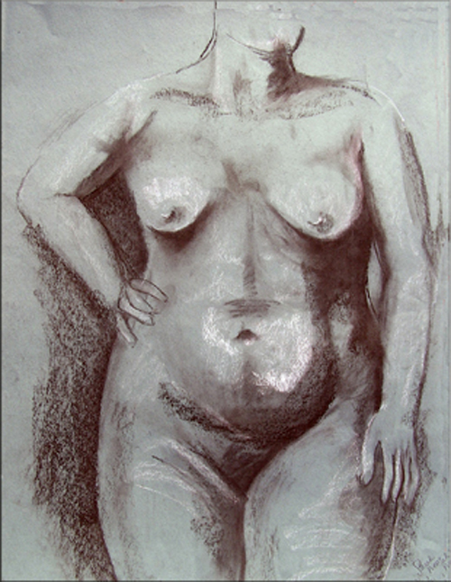 Sarah Pierroz_Drawing_Charcoal_The Pose.jpg
