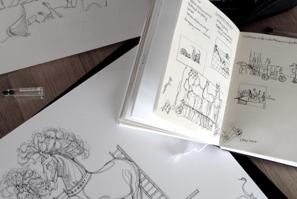 Sketchbook Images, © Sarah Pierroz, 2014