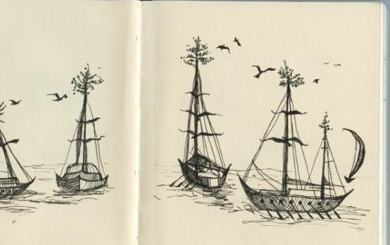 sarah pierroz sketch of boats.jpg