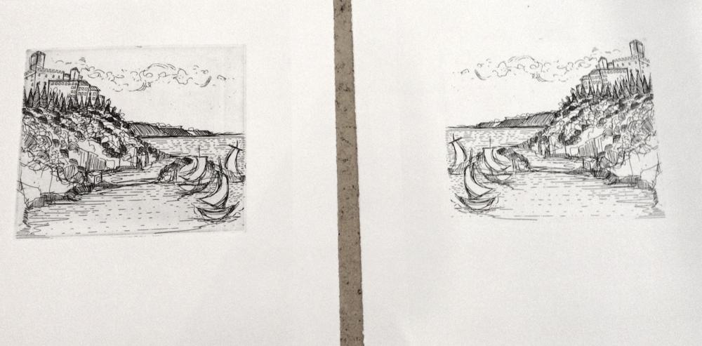 Sarah Pierroz Printmaking Duino Castello 2014 Preparations