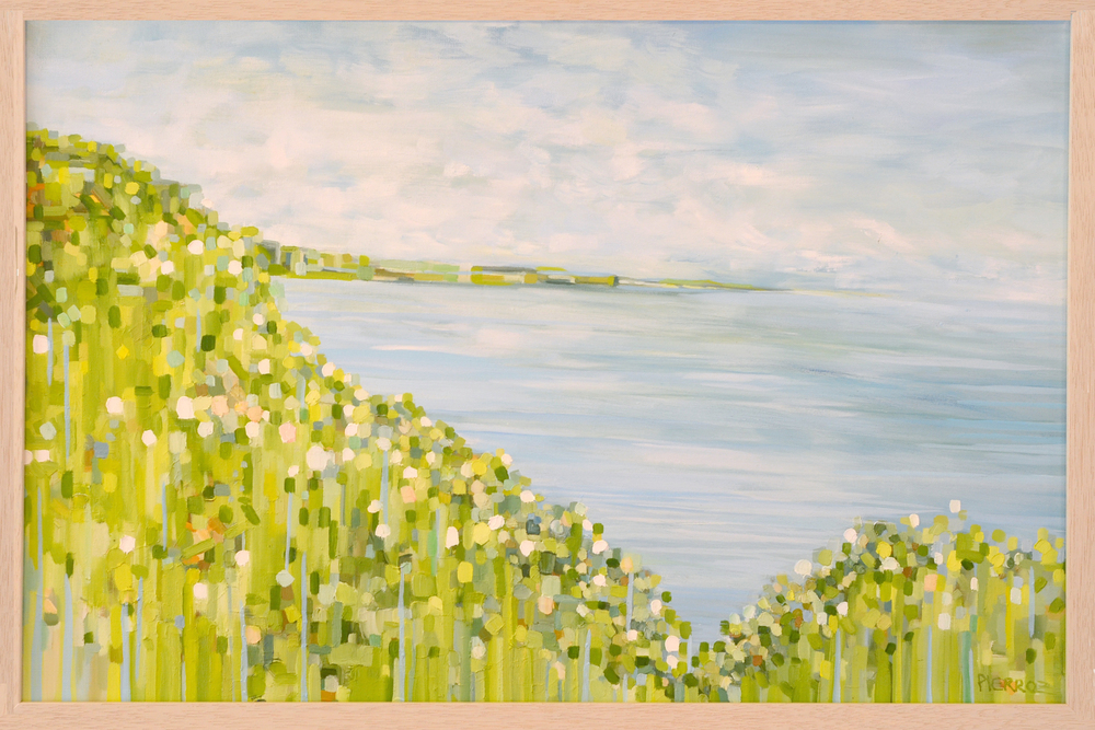 DUINO PRIMAVERA. OIL ON CANVAS.  FRAMED. 50 x 100 cm. 2500 USD