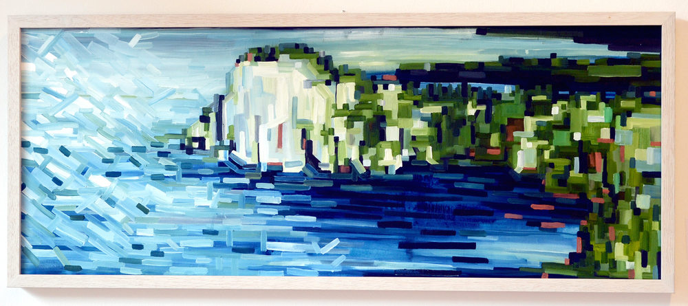 DUINO CASTELLO. OIL ON CANVAS. 40 x 100 cm. (sold)