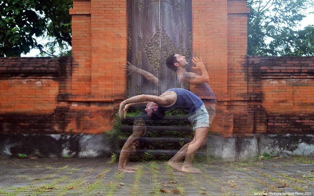 Nabs Hadi, in Ubud, Indonesia. A fearless man who reaches beyond his physical boundaries and lifts those around him with his powerful signing voice. Based out of Alderely Edge, in the UK and runs international workshops in fabulous places:  www.nabsyoga.com
