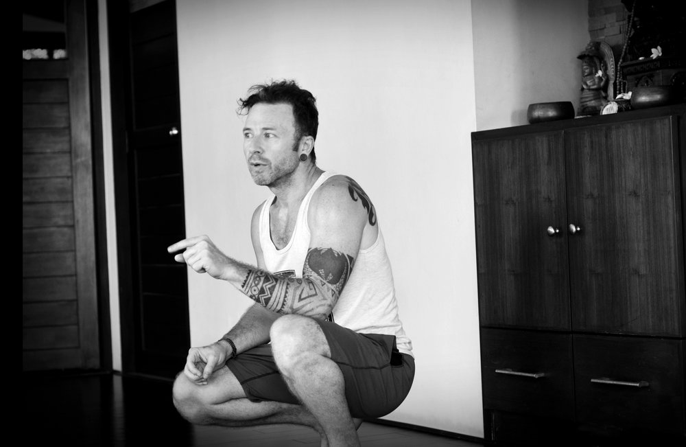 "David Robson, Ashtangi based in Toronto, Canada at a workshop in Koh Samui, Thailand. His attention to detail in between postures is meticulous and ultra heightened, to the point where you may even find yourself ""floating"".  www.davidrobsonyoga.com"