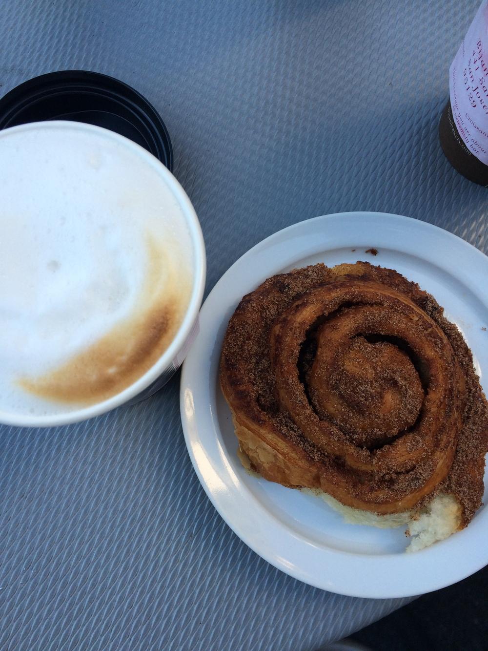 Cappuccino + cinnamon raisin swirl