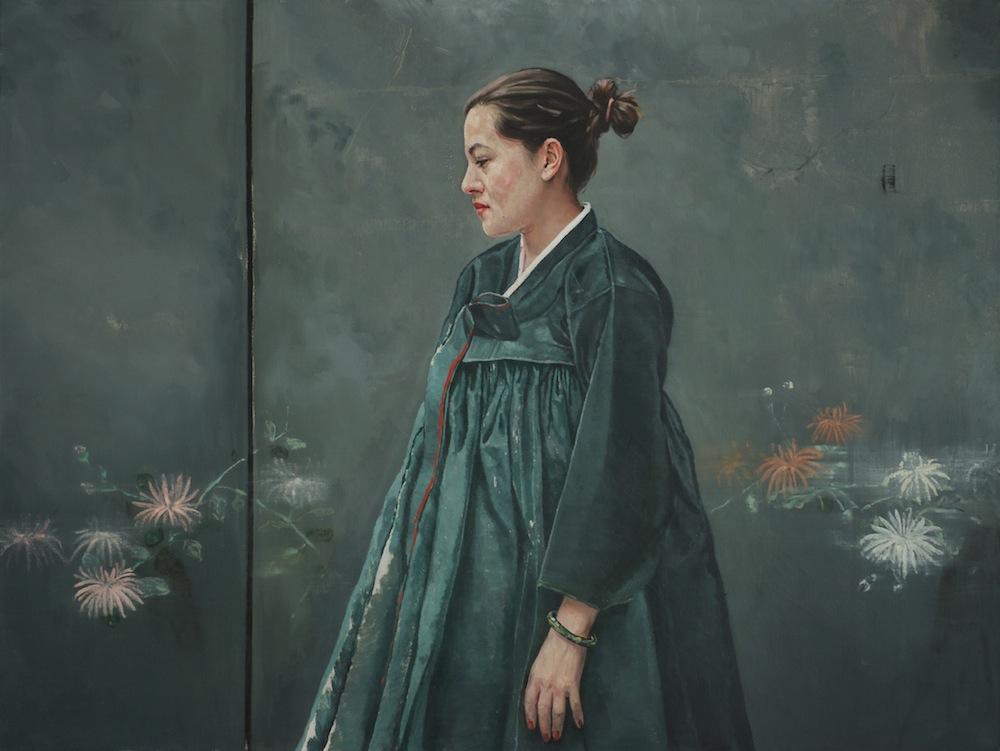 Nina im grünen Hanbok