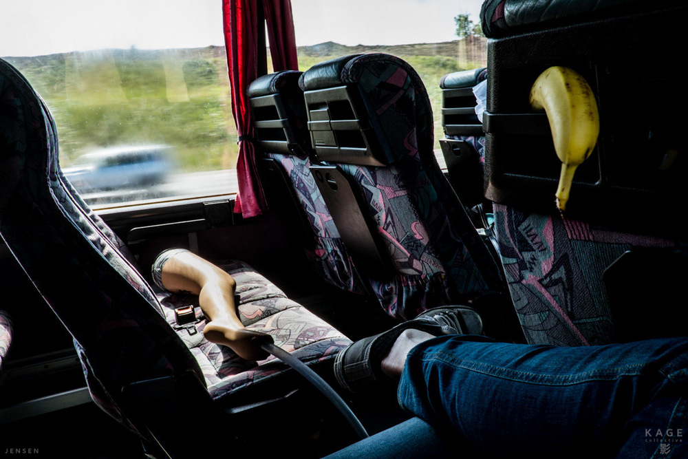 A completely normal view inside the bus. Image by Charlene Winfred.