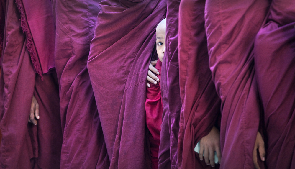 Novice Monk In Robes.  Photo: Lynn Gail