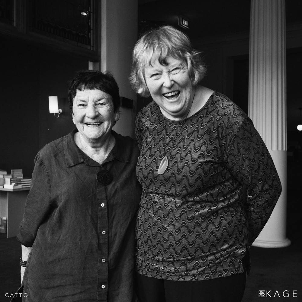 Photographers Marti Friedlander and Ans Westra, at the Embassy Theatre in Wellington, 2008.