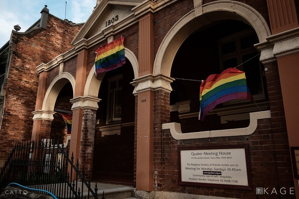 Marriage Equality sign, Surry Hills