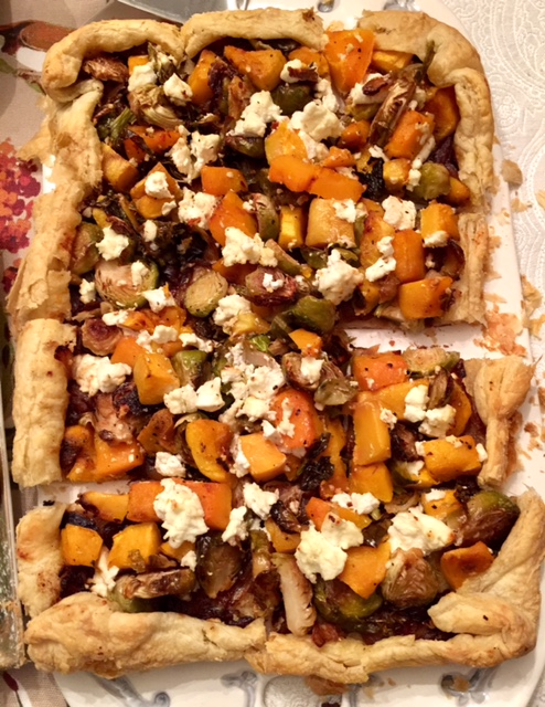 recipe: butternut squash goats cheese puff pastry [37]