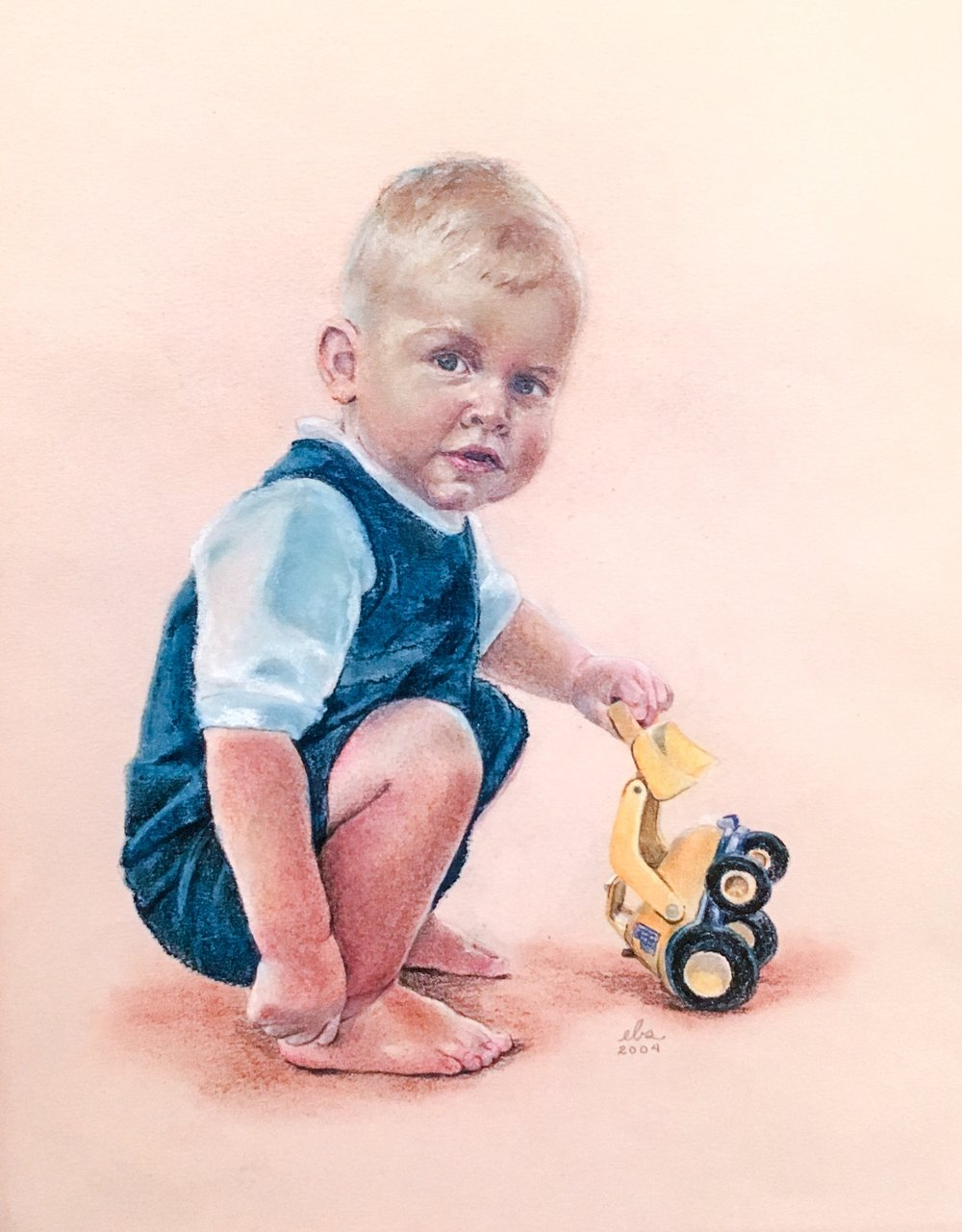 Alexander , 2004. Pastels and colored pencil. Copyright Designs by EBS