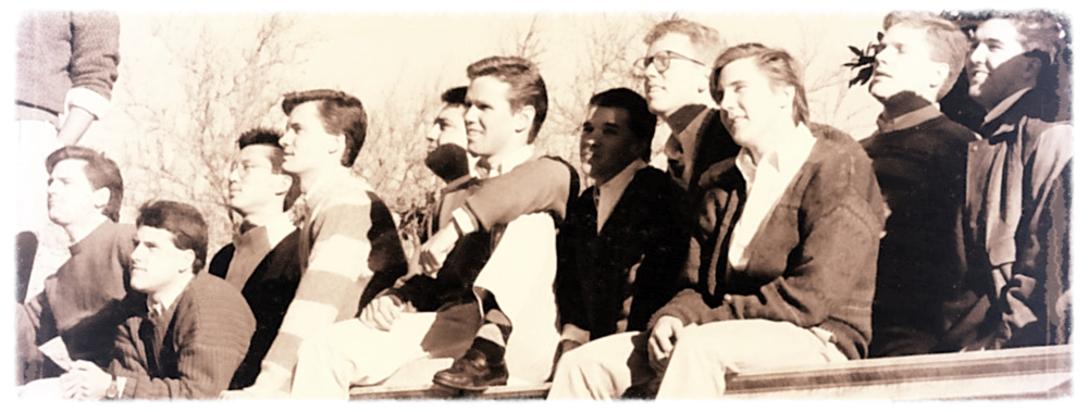 The Original Eight VGs on the Steps of the Rotunda in 1953.