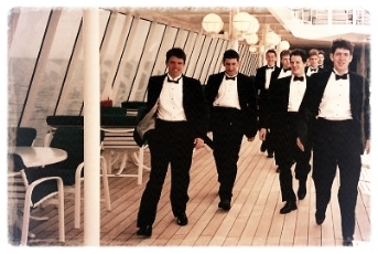 The VGs aboard a cruise ship.