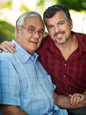 Former Congressman Barney Frank with husband Jim Ready