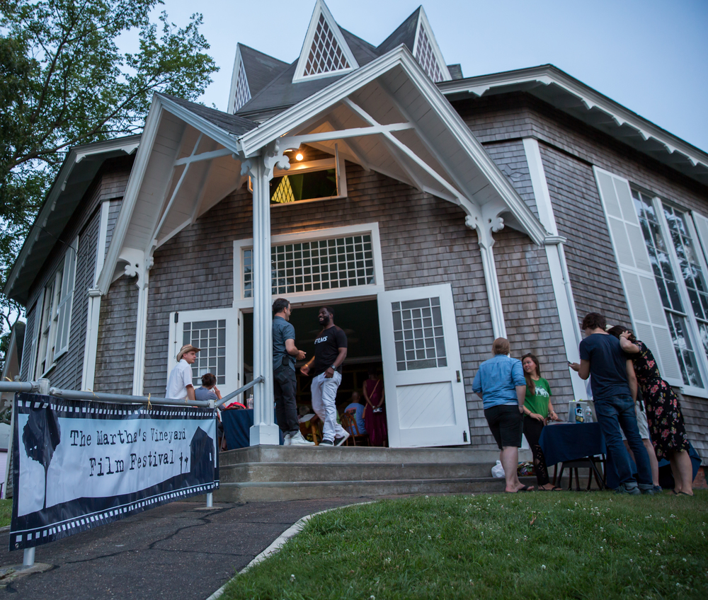 Union Chapel in Oak Bluffs, before the screening of IN MY FATHER'S HOUSE on July 20, 2015. Photo by Maria Thibodeau.