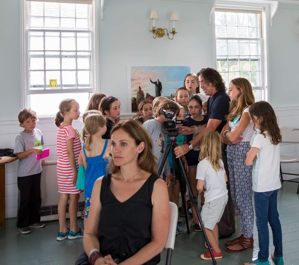 Actress Amy Brenneman and director Brad Silberling teach a free workshop for kids on July 9, 2015. Photo by Maria Thibodeau