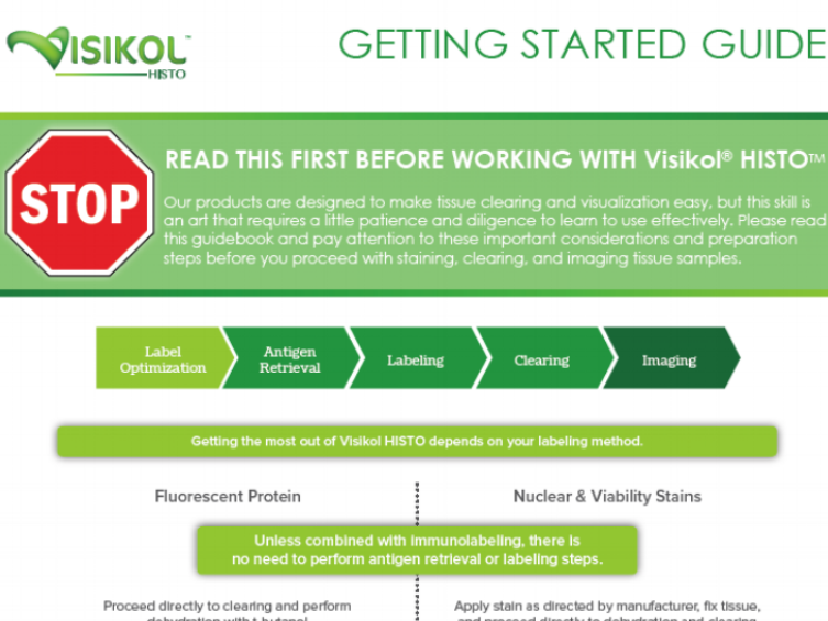 Visikol HISTO Getting Started Guide