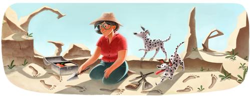 Mary Leakey Google Doodle