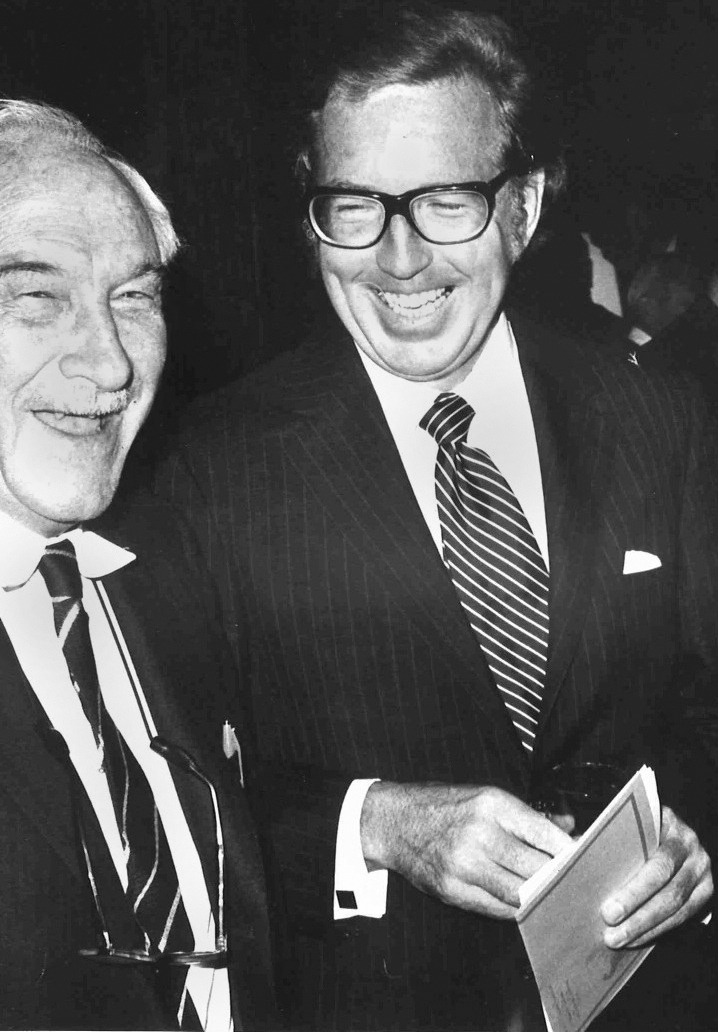 Louis Leakey with former Leakey Foundation President, Ned Munger.