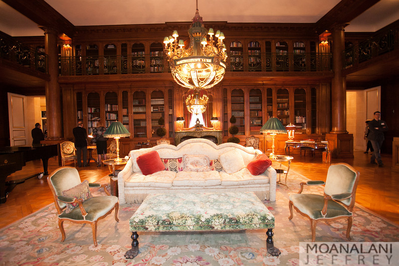 Library at the Chateau Carolands.