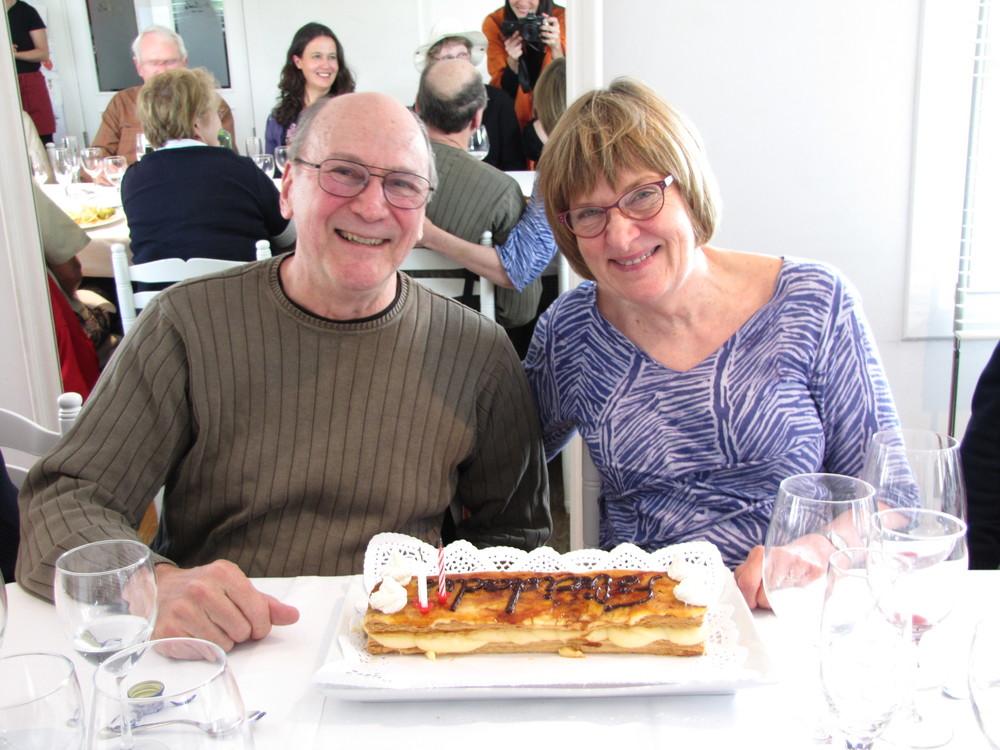 Janice and Ken Kaye celebrate their wedding anniversary.
