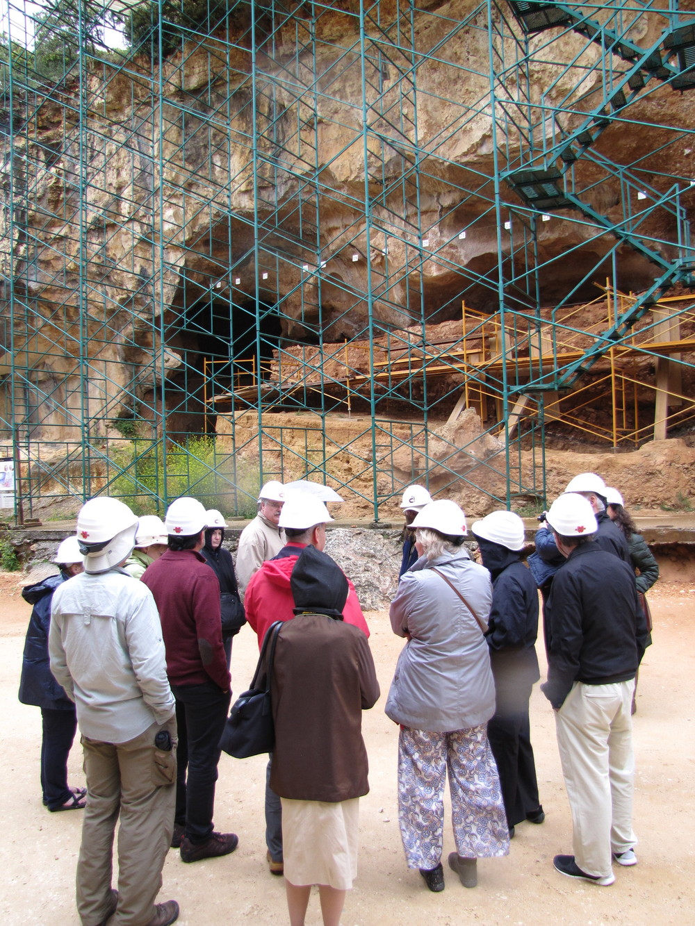 The scaffolding we were allowed to climb at Atapuerca.